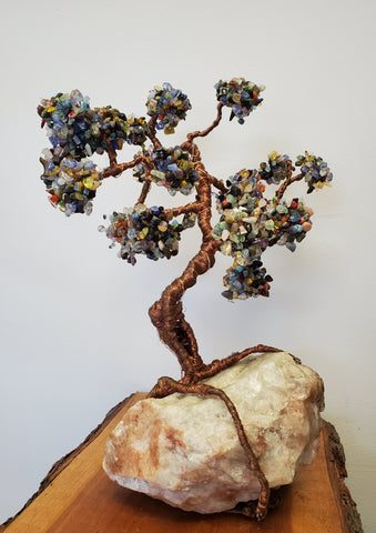 Twisted Tree- Assorted Gem Light Up Collectable