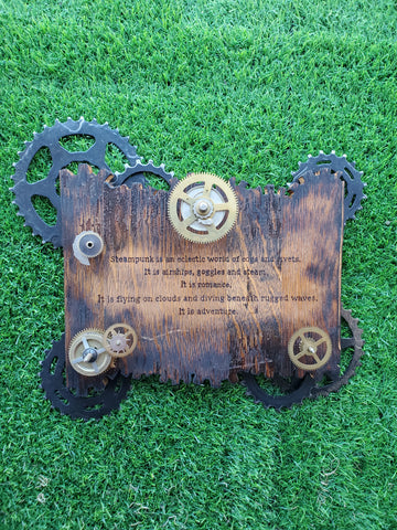 Steampunk | Steampunk Art | Wooden Wall Plaques
