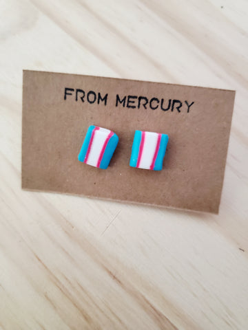 Transgender Pride Flag Earrings