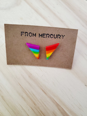Totally 80's Rainbow Pride Earrings