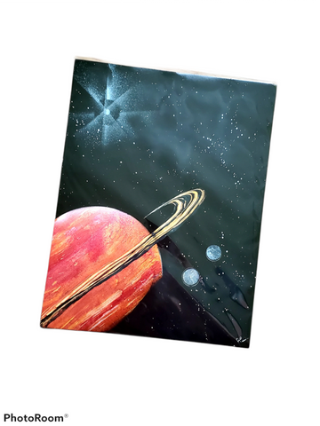 Annetta Coyle Original  Spray Art | Outer Space Collection