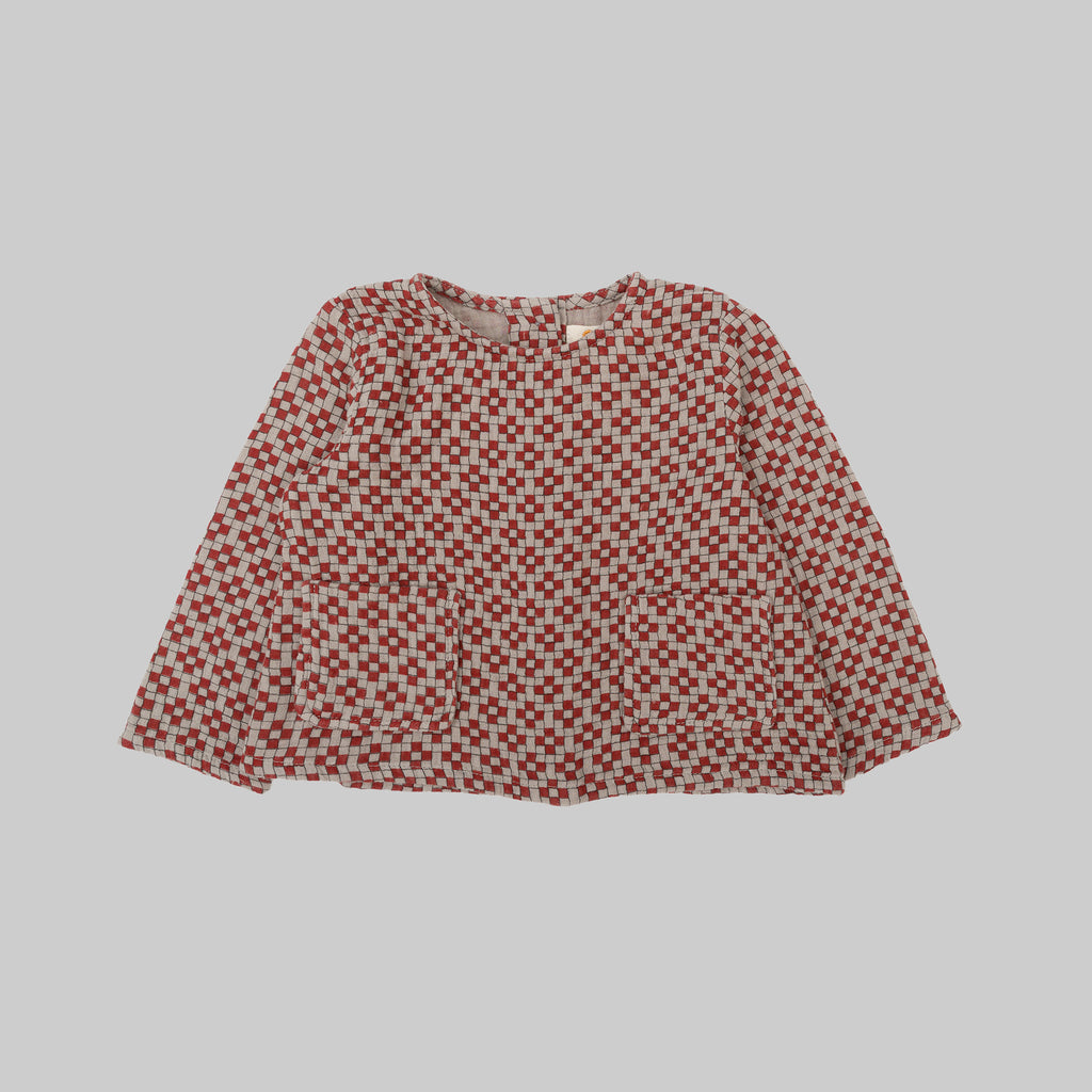 BAILEY Top Cubic Print
