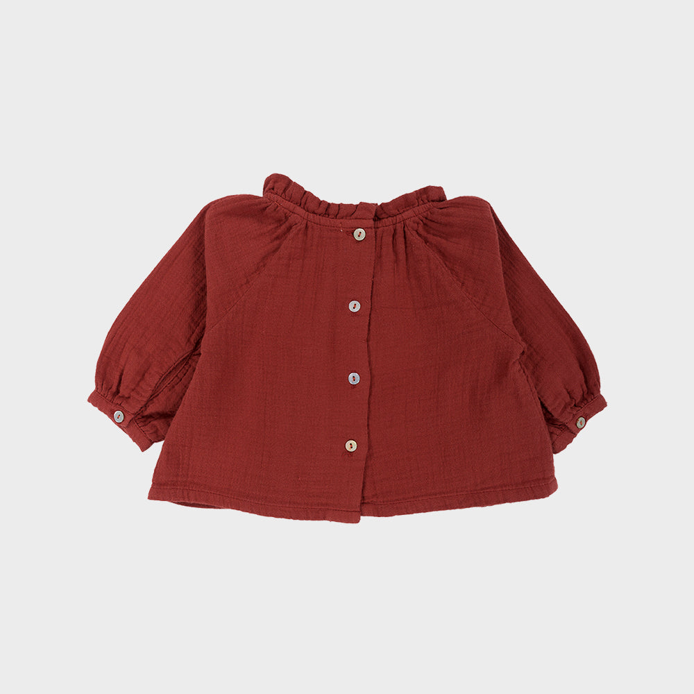 CLARE Blouse Burgundy Baby