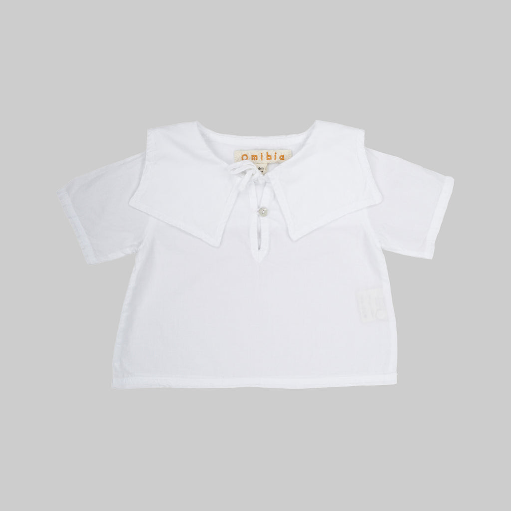 DELIA-Top organic clothing-White-Baby-F