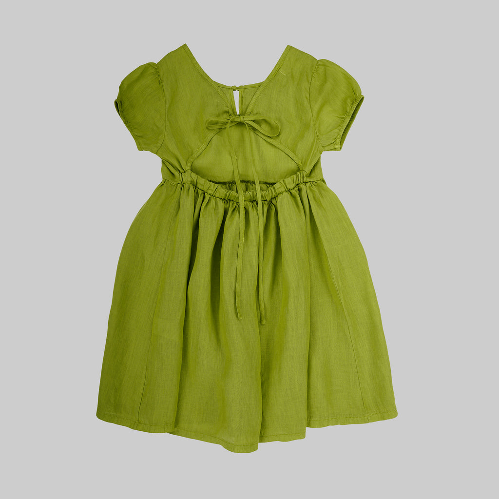 Joy  Dress Baby - Apple Green