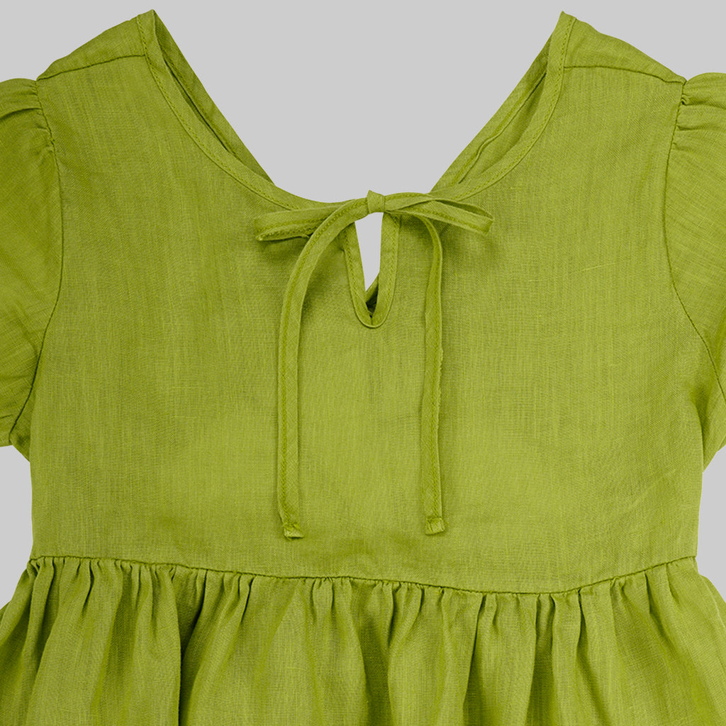 Joy  Dress Child - Apple Green
