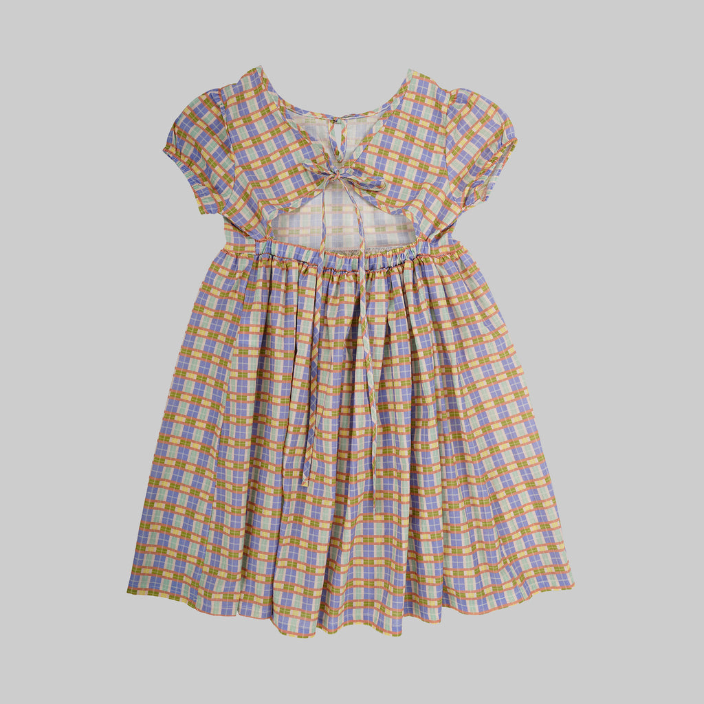 Joy  Dress Baby - Check - Rainbow