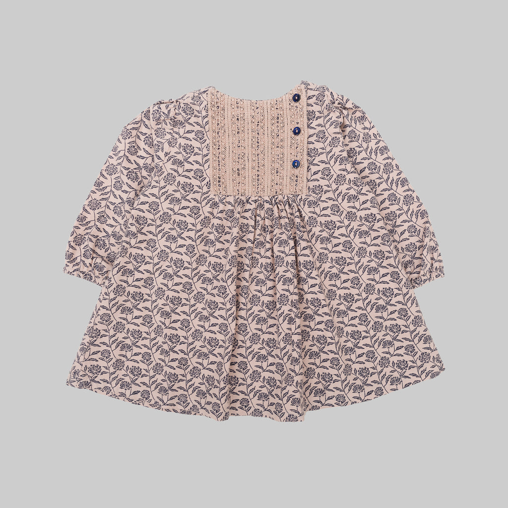 KYOTO Dress Misty Pink Flower Baby