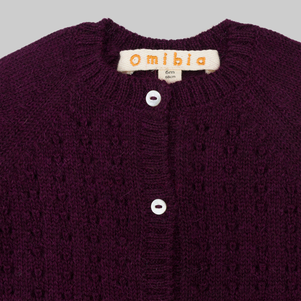 PIA Cardigan Dark Cherry Baby