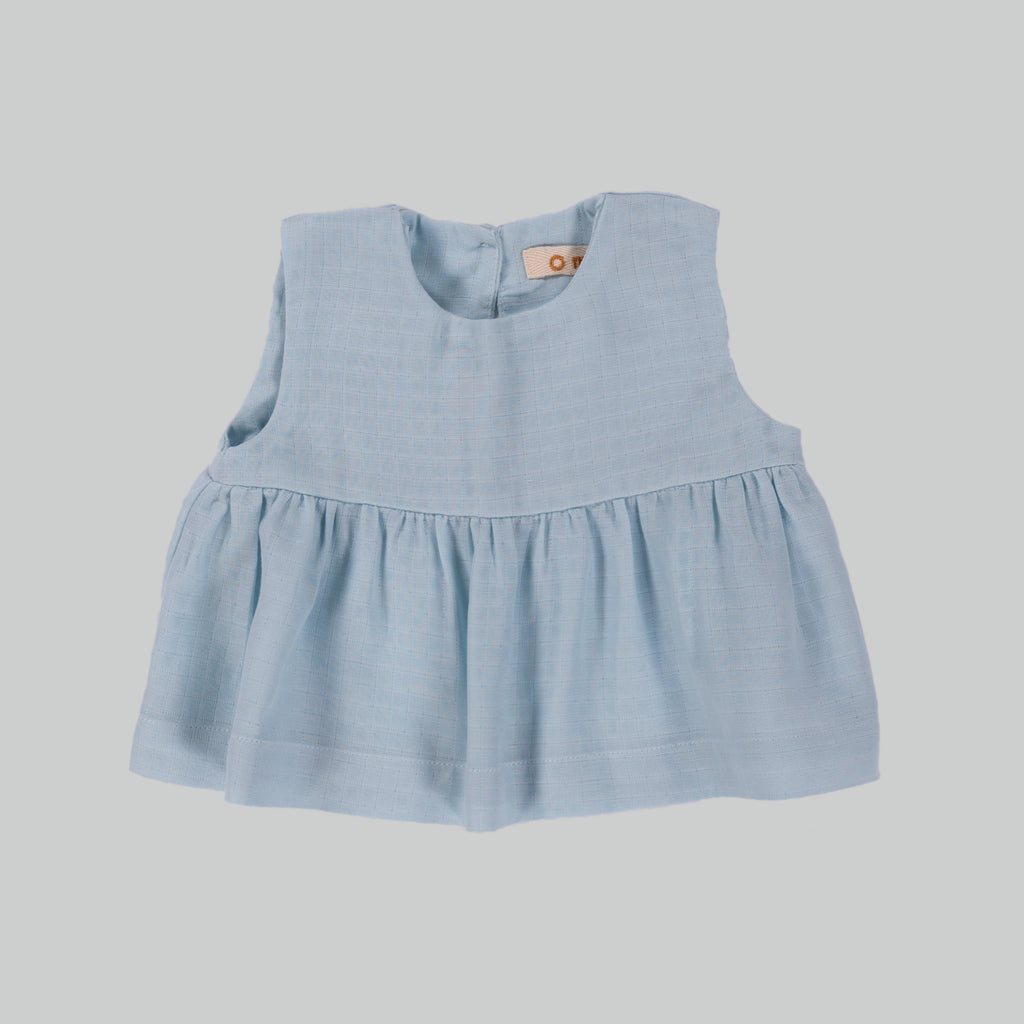 ROMIE Top Baby Celeste Blue