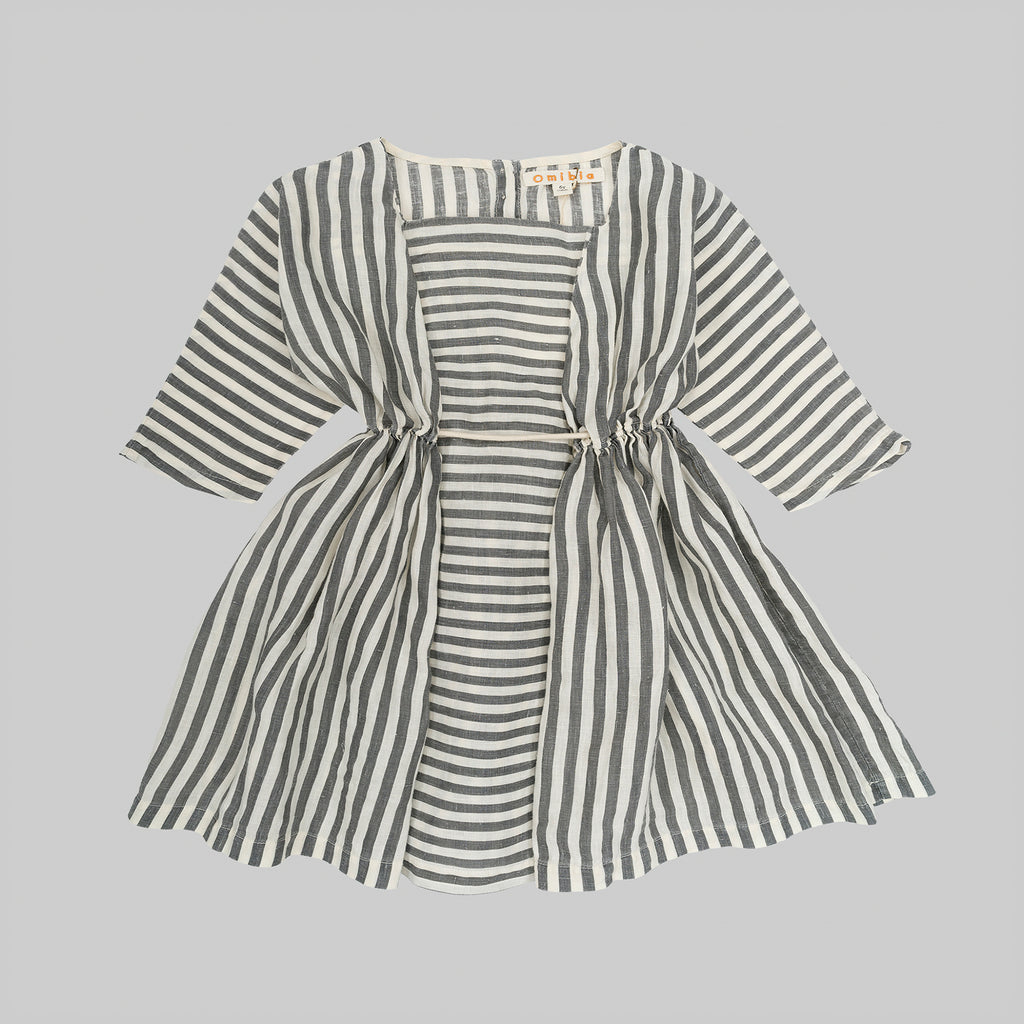 SOPHIA Dress Baby Flax Stripes