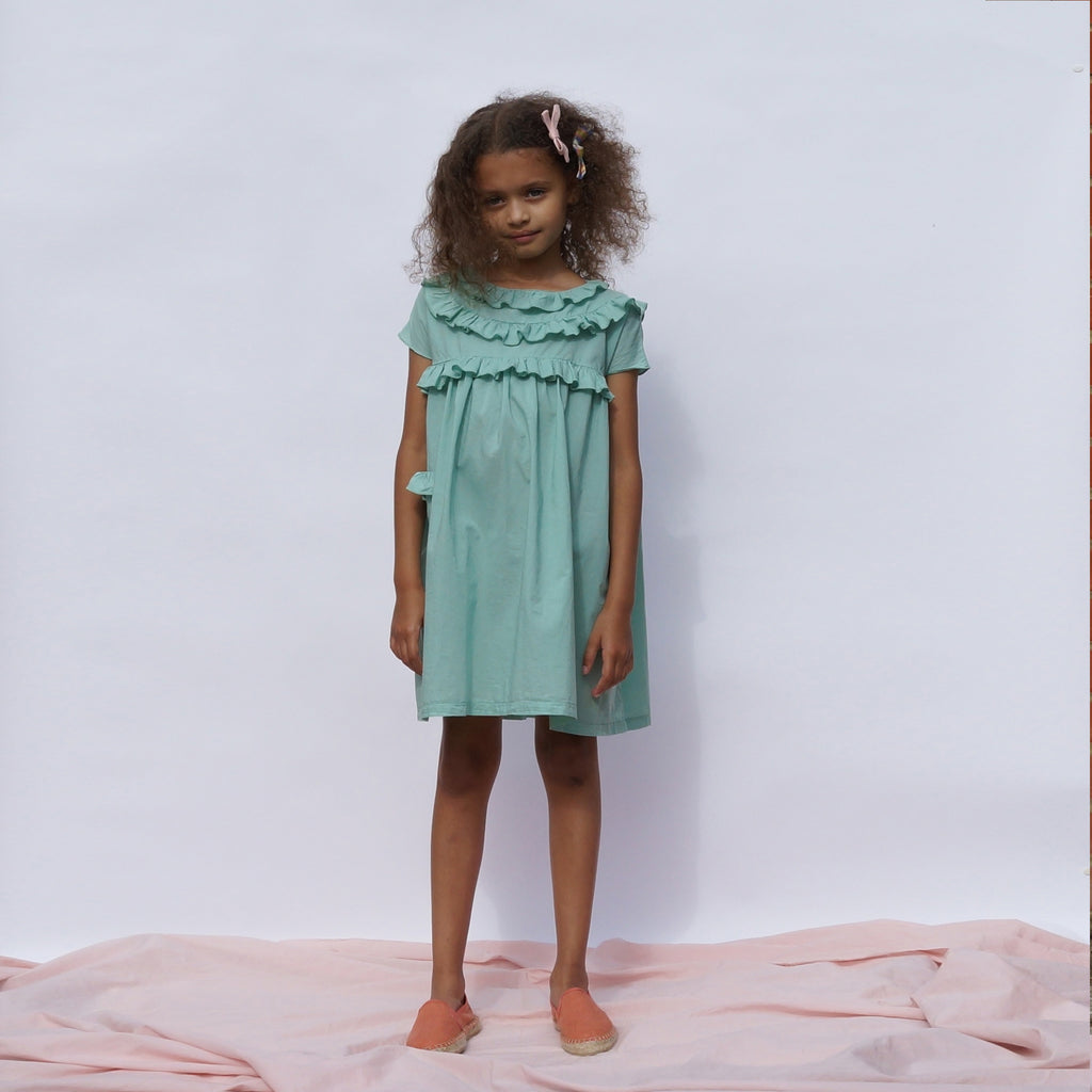 CAMILLA Dress Baby - Fern Green