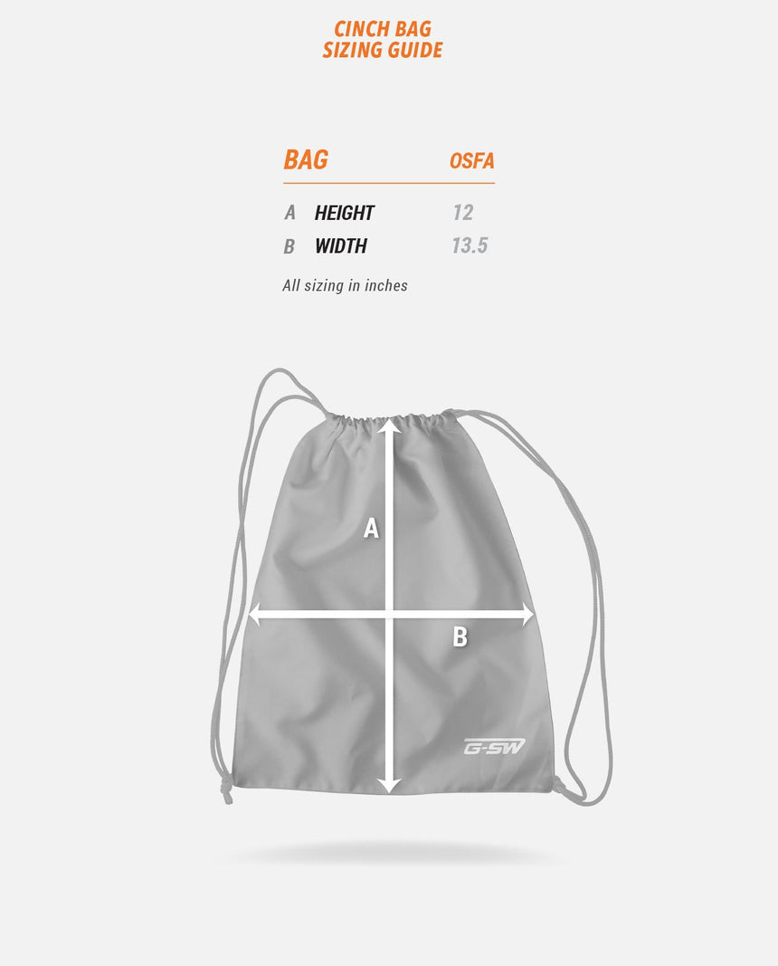 Cinch Bag Sizing Guide