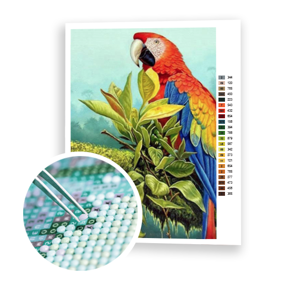 Diamond Painting Parrot on a branch