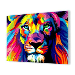 Diamond Painting Colorful Lion