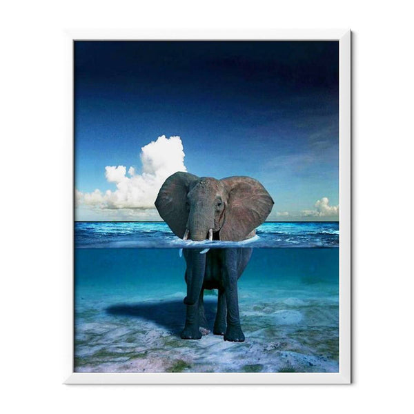 Elephant In The Ocean Diamond Painting - 1