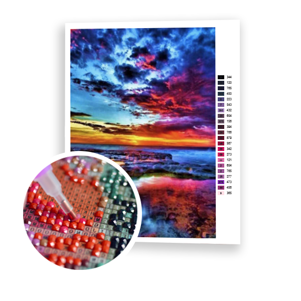 Diamond Painting Magic sunset