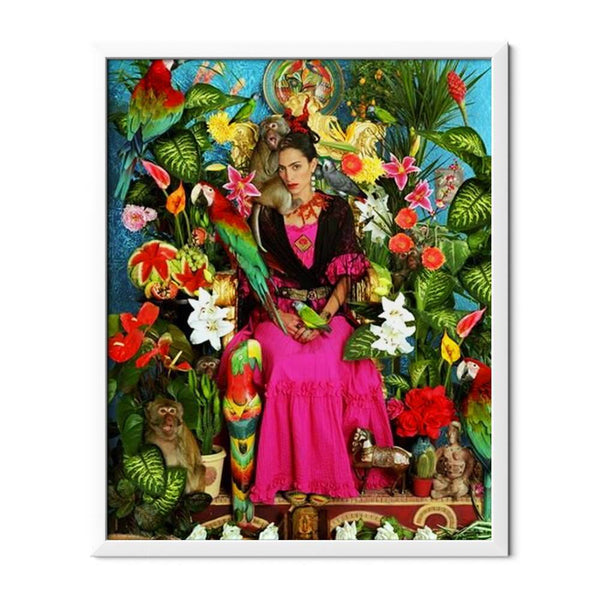 Frida And Flowers Diamond Painting - 1