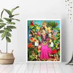 Diamond Painting Frida And Flowers