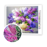 Diamond Painting Purple pink bouquet