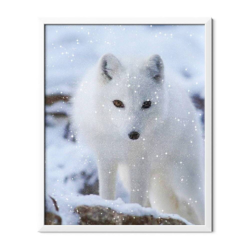 White Fox Diamond Painting - 2