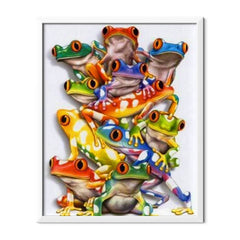 Diamond Painting Colored Frogs