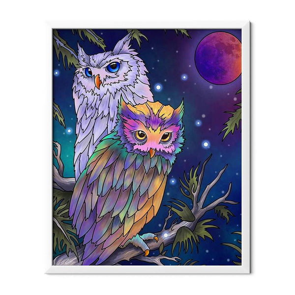 Two Owls Diamond Painting - 1
