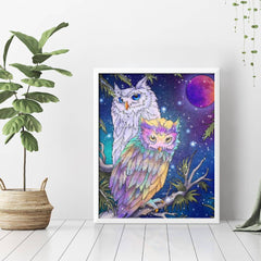 Diamond Painting Two Owls