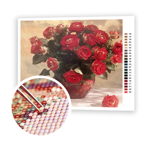 Diamond Painting Red beautiful roses