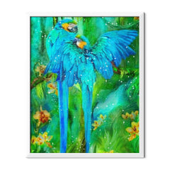 Diamond Painting Blue African Parrots