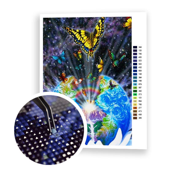 Diamond Painting Global Butterfly