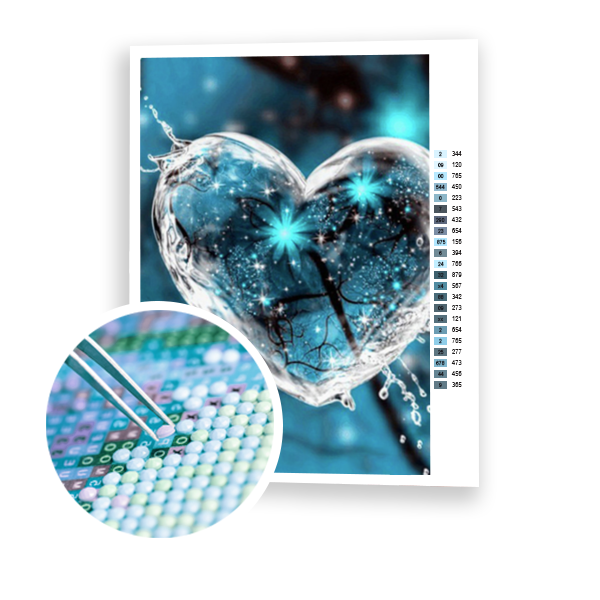 Diamond Painting Water heart
