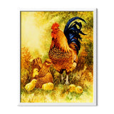 Rooster And Chickens Diamond Painting - 1