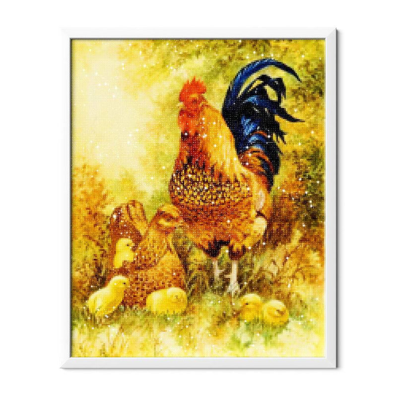 Rooster And Chickens Diamond Painting - 2