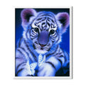Tiger Cub And Butterflies Diamond Painting - 1
