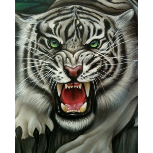 Diamond Painting Tiger jump
