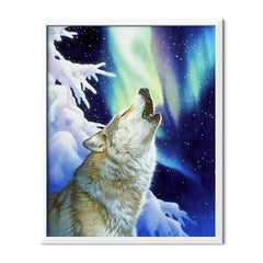 Diamond Painting Howling Wolf