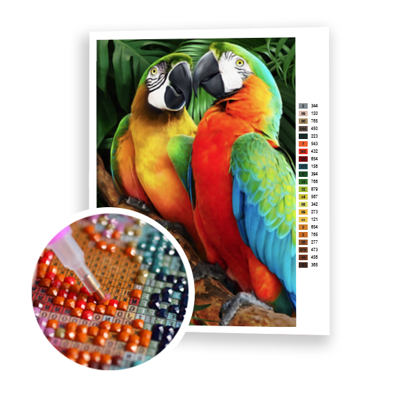 Diamond Painting Parrot love
