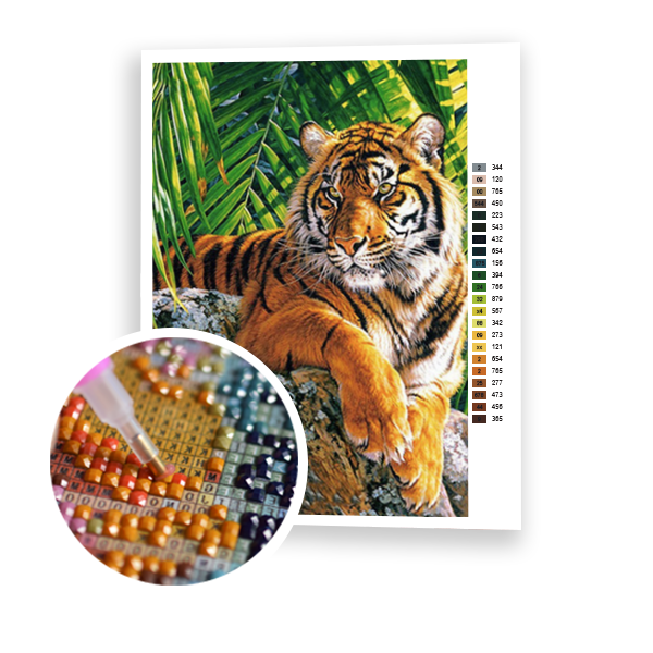 Diamond Painting Tiger in nature