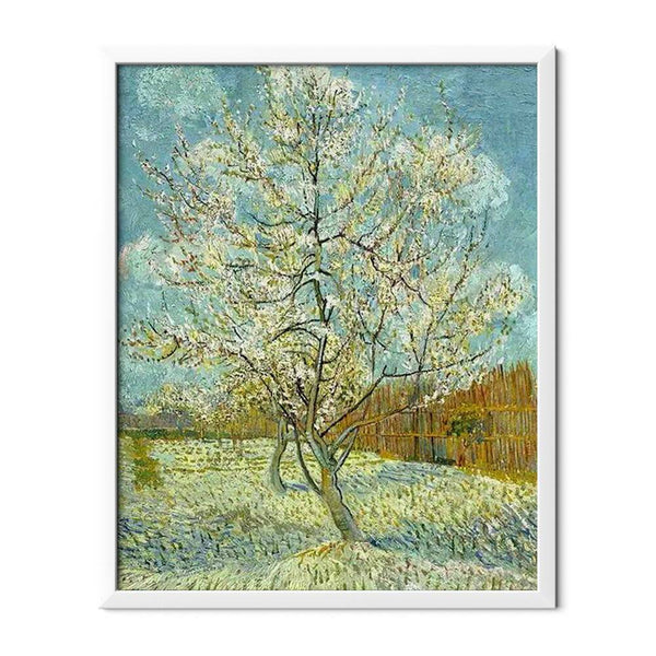 Pink Peach Tree Diamond Painting - 1