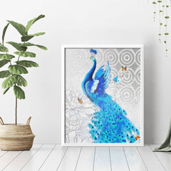 Diamond Painting Blue Peacocks