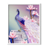 Delicate Peacock Diamond Painting - 1