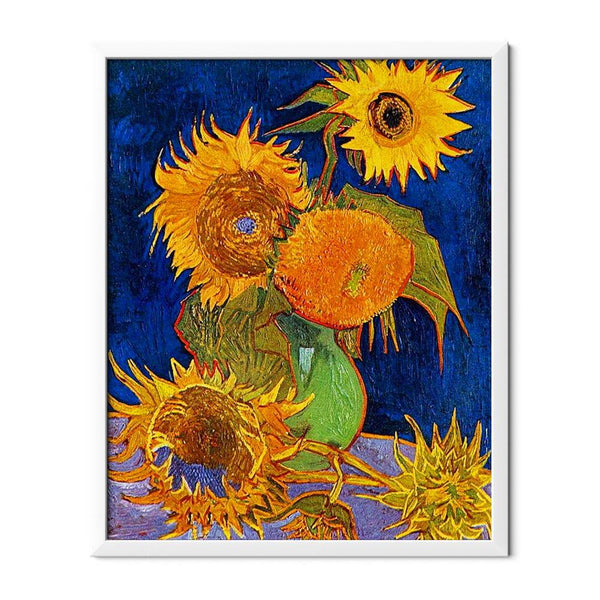 Sunflowers On Blue Diamond Painting - 1