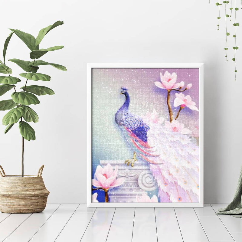 Delicate Peacock Diamond Painting - 3
