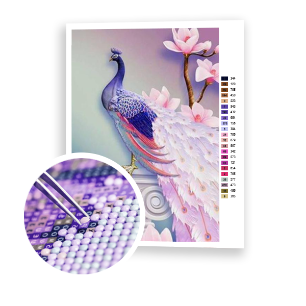 Diamond Painting Delicate Peacock
