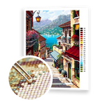 Diamond Painting Mediterranean Town