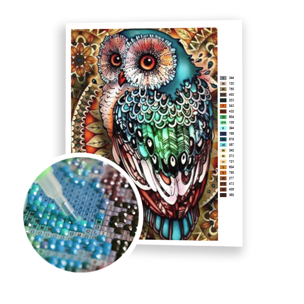 Diamond Painting Multicolor Owl