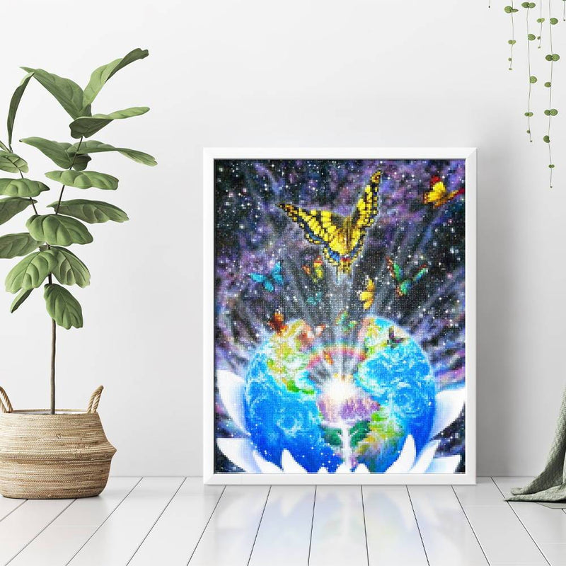 Global Butterfly Diamond Painting - 3