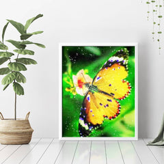 Diamond Painting Yellow Butterfly