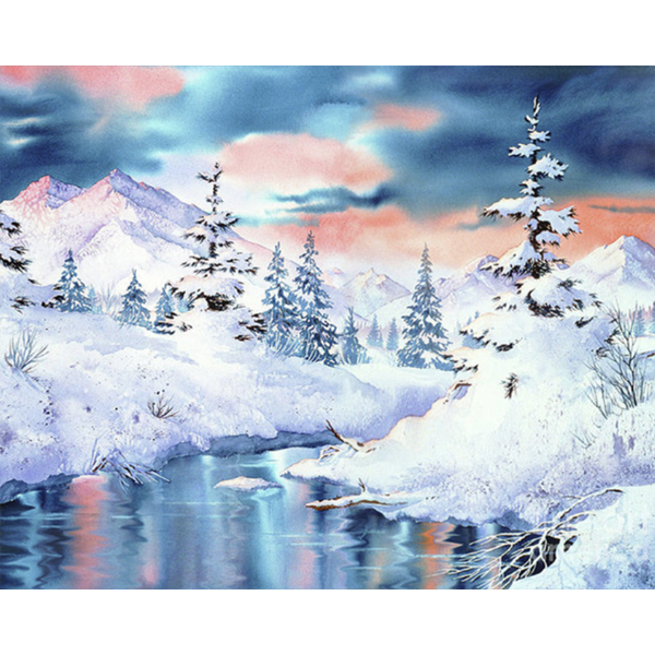 Diamond Painting Winter landscape